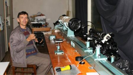 В старата оптична лаборатория на НАО