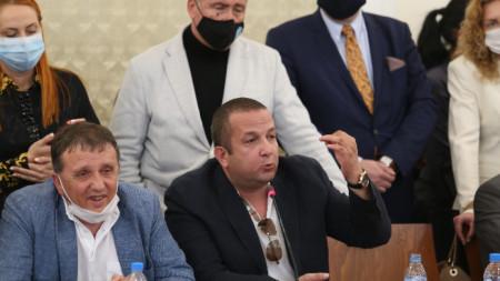 """Собственикът на фирма """"Градус"""" Иван Ангелов и бизнесменът Светослав Илчовски."""