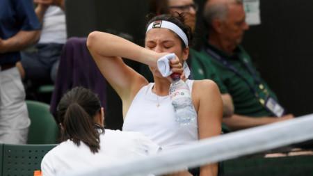 Гаспарян плаче от болка и мъка по време на интервенцията на физиотерапевтката.