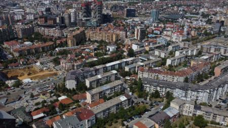 Изглед към столицата на Косово Прищина.