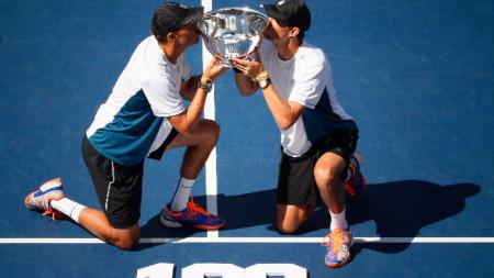 Близнаците Брайън спечелиха титла №100 през 2014 година на US Open.