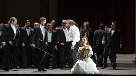 """Сцена от операта """"Танхойзер"""", поставена от Националната опера в Амстердам."""