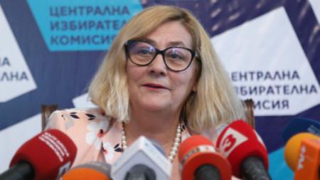 Таня Цанева, говорител на ЦИК