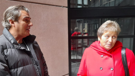 Любомир Георгиев и Нели Дончева, участници в конференцията за бъдещето на Европа в Страсбург.