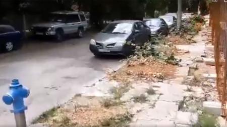 Стоп-кадър от изпратеното до Радио София видео
