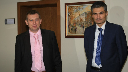 Евгени Георгиев (вдясно) и Алексей Трифонов.