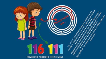 Националната телефонна линия е един от каналите за комуникация на деца, пострадали от насилие.