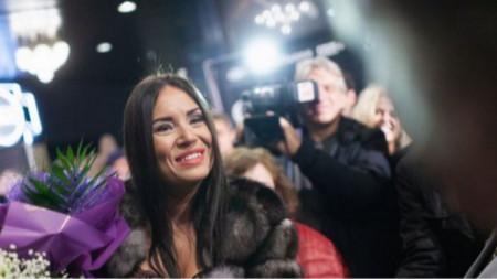 Соня Йончева на премиерата на филма 'Sempre Libera'