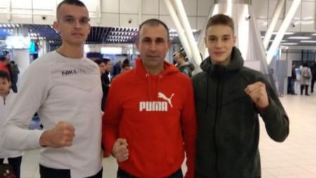 Калоян Бинев, полк. Петър Петров и Владимир Далаклиев