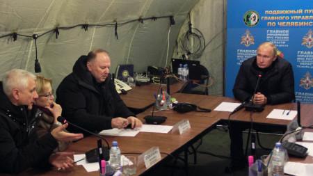 Путин се срещна с представители на местната власт в индустриалния град.