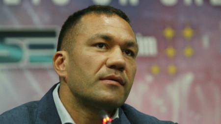 Кубрат Пулев по време на пресконференцията