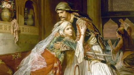 """""""Раздялата на Корадо и Медора"""", картина от Чарлз Никълс"""