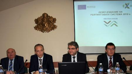 Министърът на образованието и науката Красимир Вълчев представи резултатите от новото издание на Рейтинговата система на висшите училища в България за 2018 г.