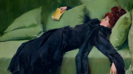 """Млада декадентка"", картина от Рамон Касас"