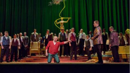 Дмитрий Хворостовски в ролята на Риголето в едноименната опера на Верди (2013 г.)