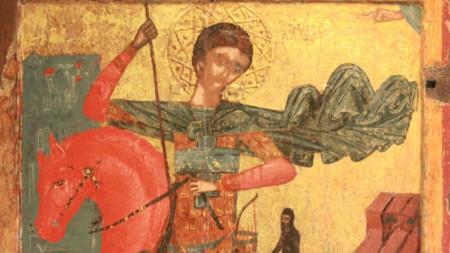 Aziz Dimitır ikonası, Nesebar şehri, XVI- XVII yy.