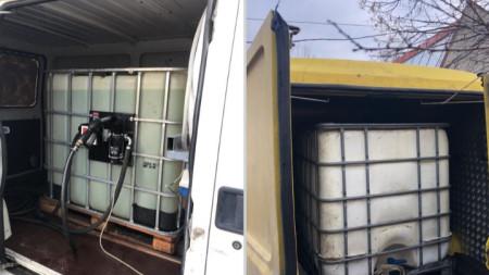 Откритите две мобилни незаконни бензиностанции в София.