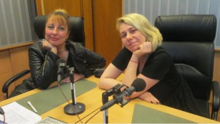 Мария Мира Христова и Зорница Аспарухова в студиото на