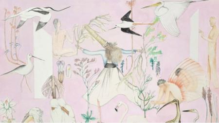 Бора Бабочи, Пролетни обреди, 2020, рисунка и монтаж върху картон