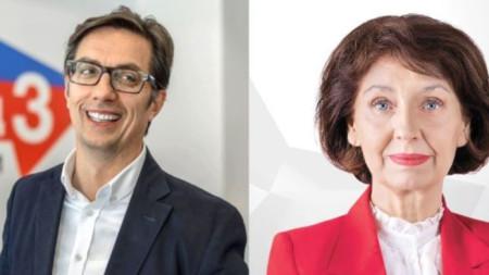 Стево Пендаровски и Гордана Силяновска са с почти еднакъв резултат - съответно 42,85% и 42,24.