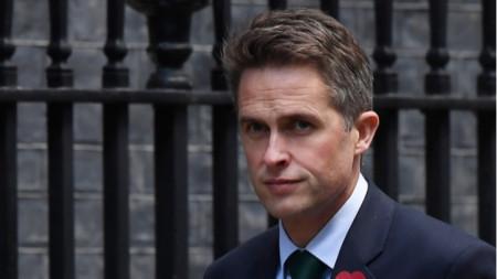 Британският министър на отбраната Гавин Уилямсън