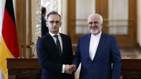Среща на немския външен министър Хайко Маас с неговия ирански колега Мохамад Зариф