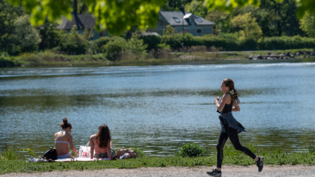 Стокхолм, 26 май 2020 г. Температурите днес достигнаха 20 градуса по Целзий.