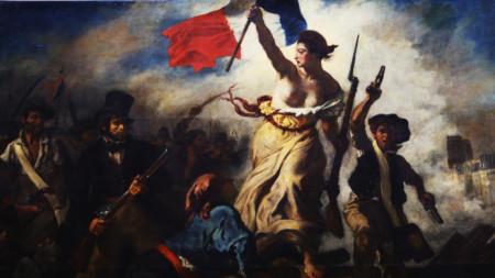 """""""Свободата води народа"""", Йожен Дьолакроа - 1830 г."""