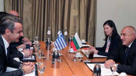 Премиерите на Гърция и България К. Мицотакис и Б. Борисов