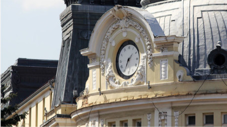 Agriculture Ministry in central Sofia - a building known for both its exquisite architecture and its beautiful clock