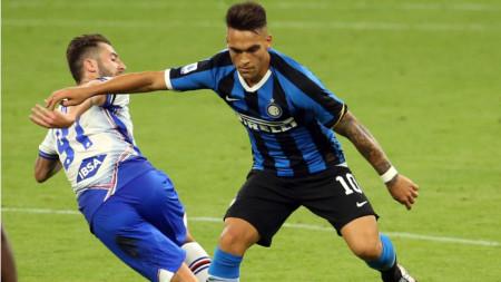 Лаутаро Мартинес прекъсна головата си суша срещу Сампдория.