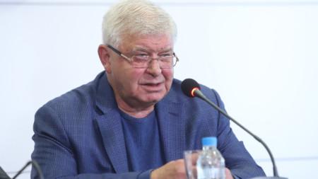 """Кирил Ананиев - бивш финансов министър в правителството """"Борисов 3"""", на брифинг в централата на ГЕРБ в София."""