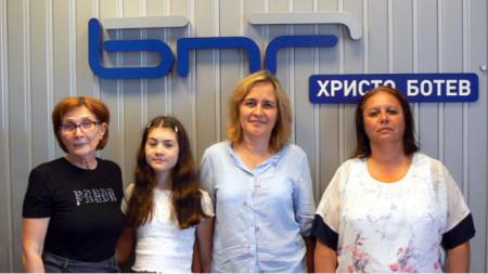 Цвета Николова, Камелия Цолова, Маргарита Борисова и Теодора Иванова (отляво надясно)
