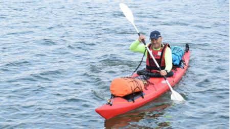 С едноместното си кану Тихомир Радев трябва да премине по река Дунав 2500 км от Инголщат до Черно море