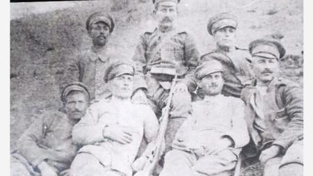 Анхиалци на фронта по време на Първата световна война