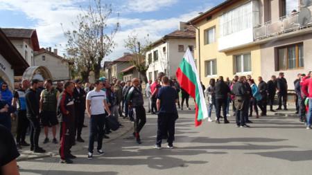 Протест пред съда в Разлог, 15 май 2021 г.
