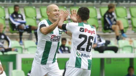 Ариен Робен е изиграл само 44 минути за Грьонинген.