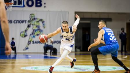 Момент от мача Рилски спортист - Левски Лукойл.