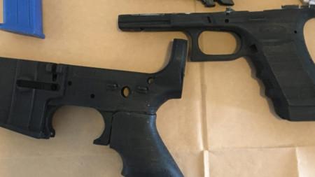 Илюстративна снимка - части за оръжие, изработени с 3D принтер, иззети от австралийската полиция.