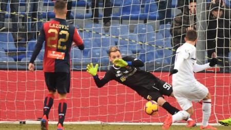 Милан вече е четвърти след 2:0 над Дженоа