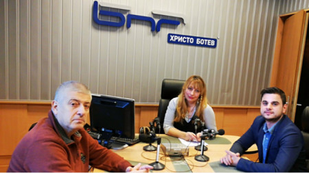 Владимир Пенев, Мария Мира Христова и Спартак Атанасов (отляво надясно)