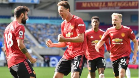 Манчестър Юнайтед стигна до победа в 100-ата минута