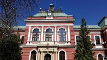 Сградата на Община Кюстендил с часовниковата кула