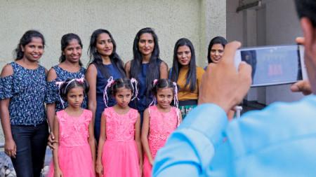 Опит да се подобри рекорда по събиране на най-много близнаци на едно място, Коломбо, Шри Ланка, 20 януари 2020 г.