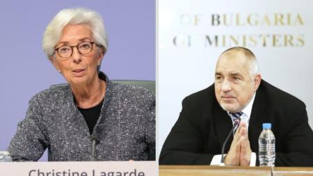 Кристин Лагард и Бойко Борисов