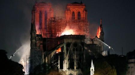 Овладян е пожарът, обхванал катедралата
