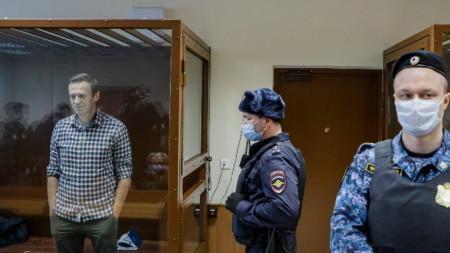 Алексей Навални в съда - Москва, 20 февруари 2021 г.