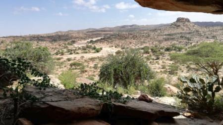 Типичен прашен и тъжен сомалийки пейзаж