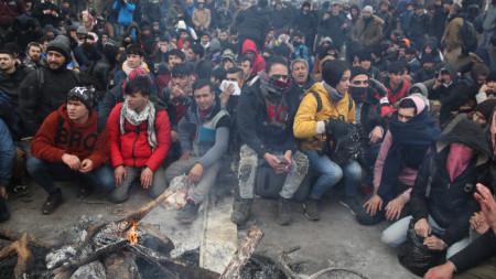 29 февруари 2020 г. -  мигранти край Одрин