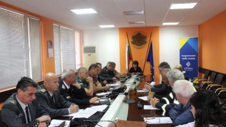 Областният управител Албена Георгиева даде начало на щабната тренировка